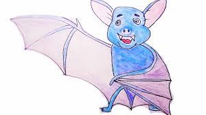 easy drawing for kids cartoon bat youtube