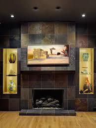 home design fireplace tile ideas slate home remodeling