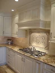 crema marfil marble tile kitchen transitional with accent tile