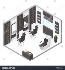 beauty salon floor plans beauty salon isometric icon set vector stock vector 328719452