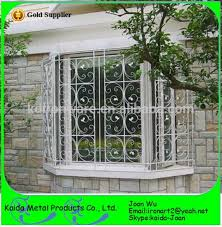 decorative home wrought iron steel window grates for security