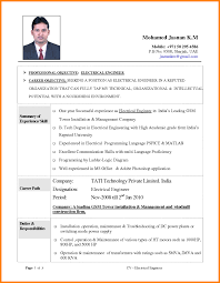 resume format for quality control engineer cv format for electrical engineers template 8 electrical engineering cv format mail clerked