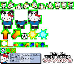 ds dsi kitty panda sports stadium football sprites