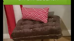 diy tufted bench easy and affordable youtube