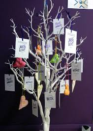 wedding wishing trees inspired by script personalised wedding wishing tree tags