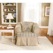 sure fit lexington t cushion one piece sofa slipcover hayneedle
