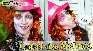 Halloween Mad Hatter Makeup by Maquiagem Chapeleira Maluca Mad Hatter Alice In Wonderland