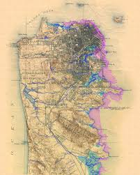 San Francisco Ferry Map by San Francisco Topographic Map Maps Etc Pinterest