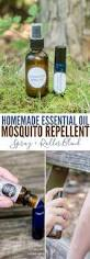 homemade essential oil mosquito repellent spray roller blend