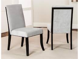 furniture contemporary parsons chairs white fabric and black wood