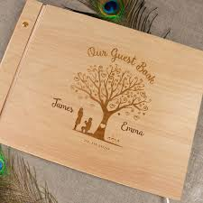 personalized wedding album heart tree wood guest book personalized wedding photo album wood