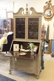 Cream Desk With Hutch Best 25 Painted Secretary Desks Ideas On Pinterest Secretary