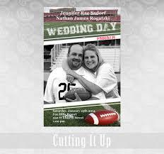 magazine wedding programs football wedding program sports theme favor magazine