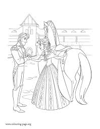anna asks to prince hans to take care of arendelle while she is