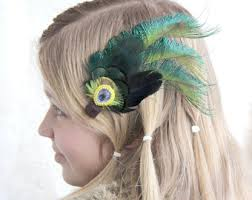 feather hair accessories feather hair clip etsy