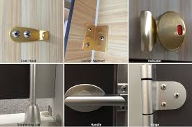 practical toilet shower cubicle nylon door locks indicator