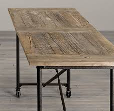 Restoration Hardware Dining Room Tables Flatiron Bar Tables Just Got This For My Dining Room I Love The