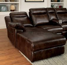 Modern Reclining Sectional Sofas by Cm6781br Reclining Sectional Sofa In Brown Leatherette