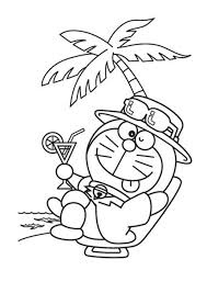 cartoon coloring pages doraemon fishing cartoon coloring pages