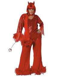 Figured Halloween Costumes Lingerie Plu Size Red Red Mama Costume