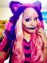Cheshire Cat Costume Cheshire Cat Costume Woman Cheshire Cat Costume With A Pink Wig