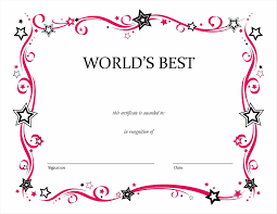 of excellence template certificate of achievement template ideas