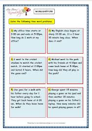 grade 3 maths worksheets 8 5 time problems lets share knowledge