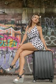 women u0027s white and black polka dots halter top mini dress and gray