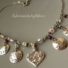 s necklace with names a s heart necklace six 6 grandchildren children names