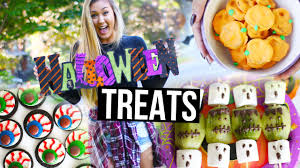 easy diy halloween treats u0026 snacks laurdiy youtube
