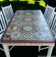 paint glass table top painted table chic stained wood and white chalk paint painted