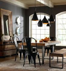 industrial chic dining room table round rustic furniture chairs