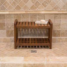 haven premium teak shower bench naturally water resistant non slip