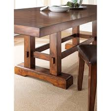 Dining Room Tables With Leaves by Steve Silver Zp700t Zappa Dining Table In Medium Cherry With 18