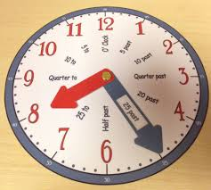 learn to tell the time clock teaching aid blue u0026 red ebay