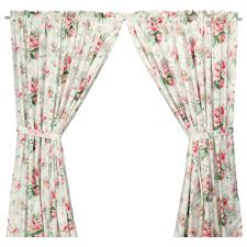 Ikea Window Panels by Ikea Emmie Pair Of Curtains Drapes French Floral Roses Toile
