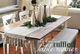 dear lillie ruffled table runner and christmas table