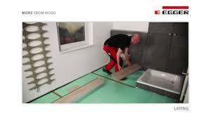 Aquastep Laminate Flooring Egger Aqua Laminate Flooring Installation In Bathroom Youtube