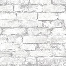 chelsea gray brick wallpaper contemporary wallpaper by