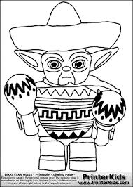 lego star wars mexican yoda coloring colour le