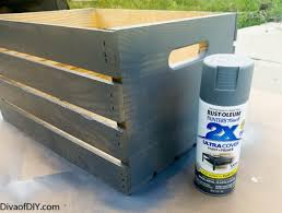 crate projects how to make a storage ottoman diva of diy