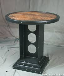 Round Bistro Table Combine 9 Industrial Furniture U2013 Industrial Style Round Bistro