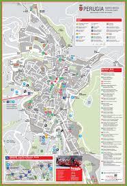 map of perugia perugia tourist attractions map