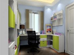 french style bookcase colourfull in small study room modern study