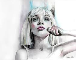 Maddie Chandelier Maddie Ziegler Poster Watercolor Print Woman Watercolor Art