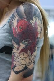 yuki u0027s half sleeve coverup 2 by lucky cat tattoo on deviantart