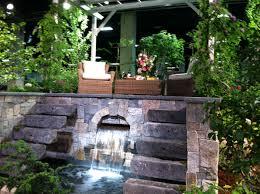 Small Garden Waterfall Ideas Landscape Ideas For Water Runoff Tiered Garden Ideas Tiered Small