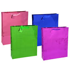 purple gift bags bulk voila large holographic gift bags at dollartree