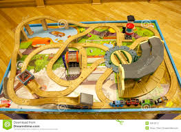 Thomas The Train Play Table Thomas Train Table Track Set Editorial Stock Photo Image 35912213
