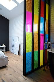bathroom partition ideas bedroom bathroom partition in colored plastic panels diy idea